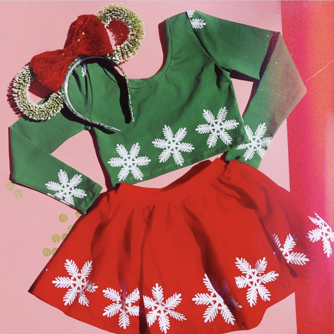 Minnie Mouse Christmas Dress.Minnie Mouse Inspired Christmas Outfit Available For Kids At