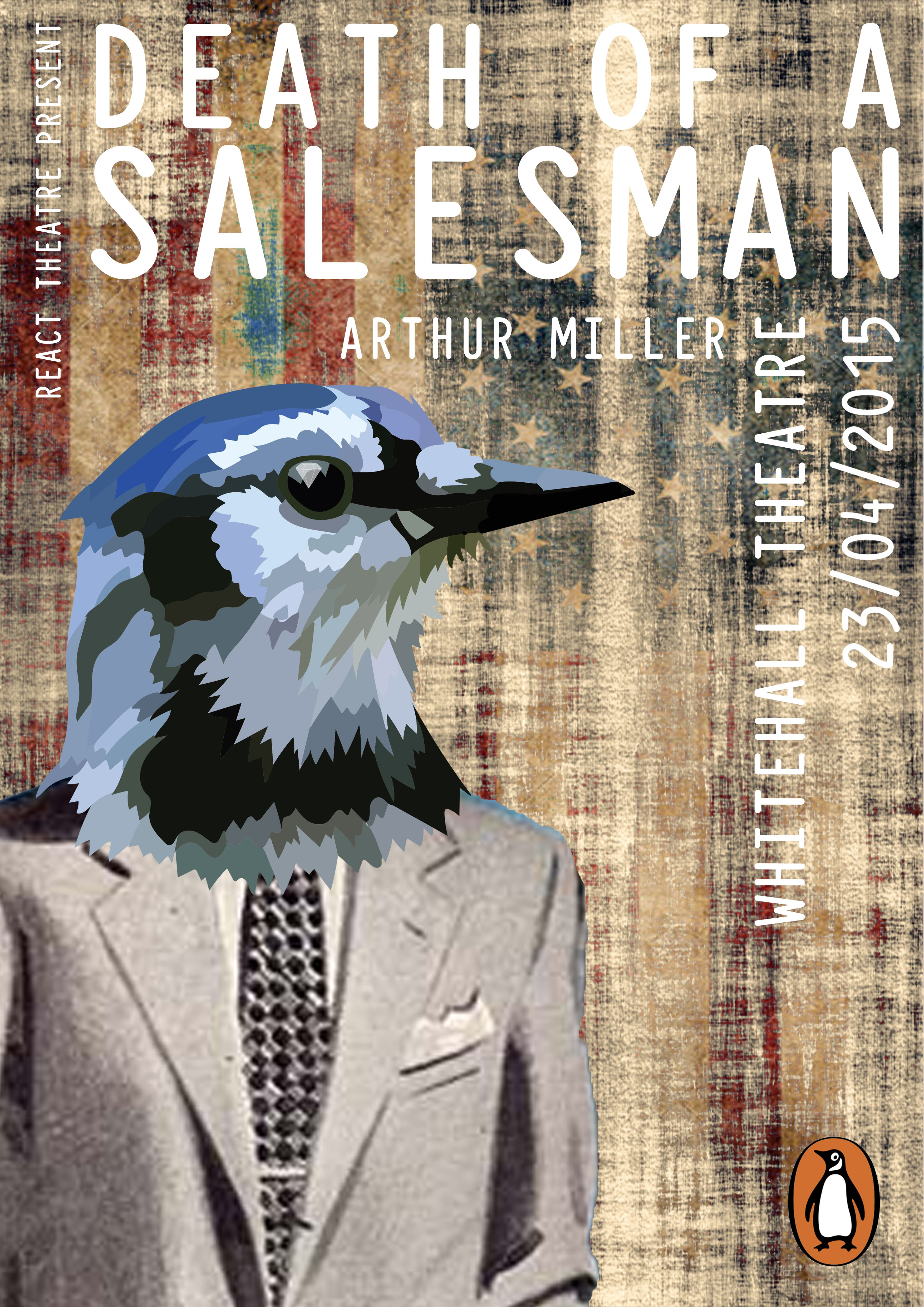 Penguin Screenplay project. Promotional poster for Arthur Millers 'Death of a Salesman'.