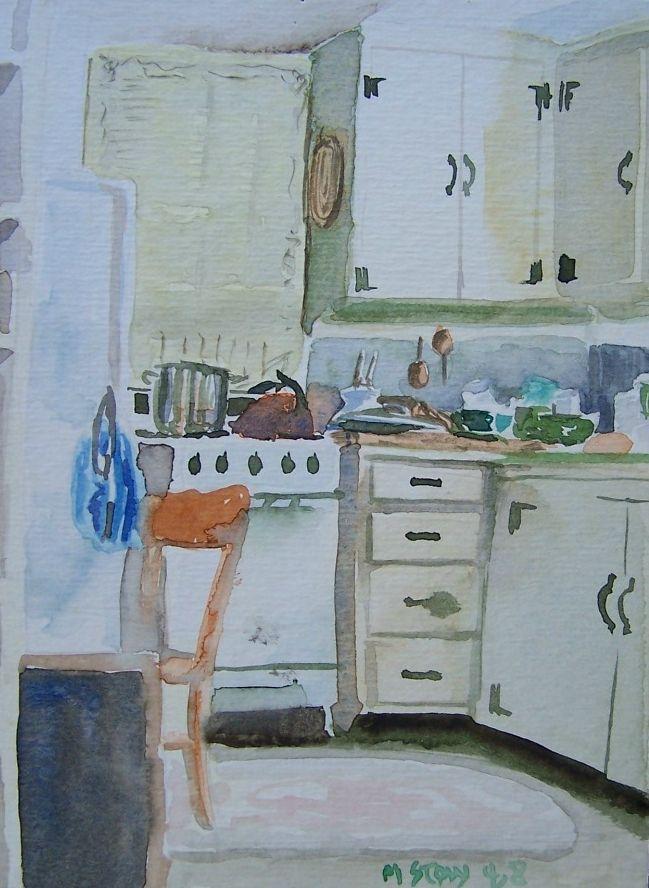 Kitchen Watercolor Acuarela