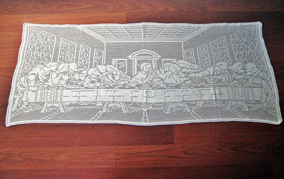 "Amazing Christmas Crocheted  Gift ""The Last Supper"" by CrochetMiracles, $350.00"