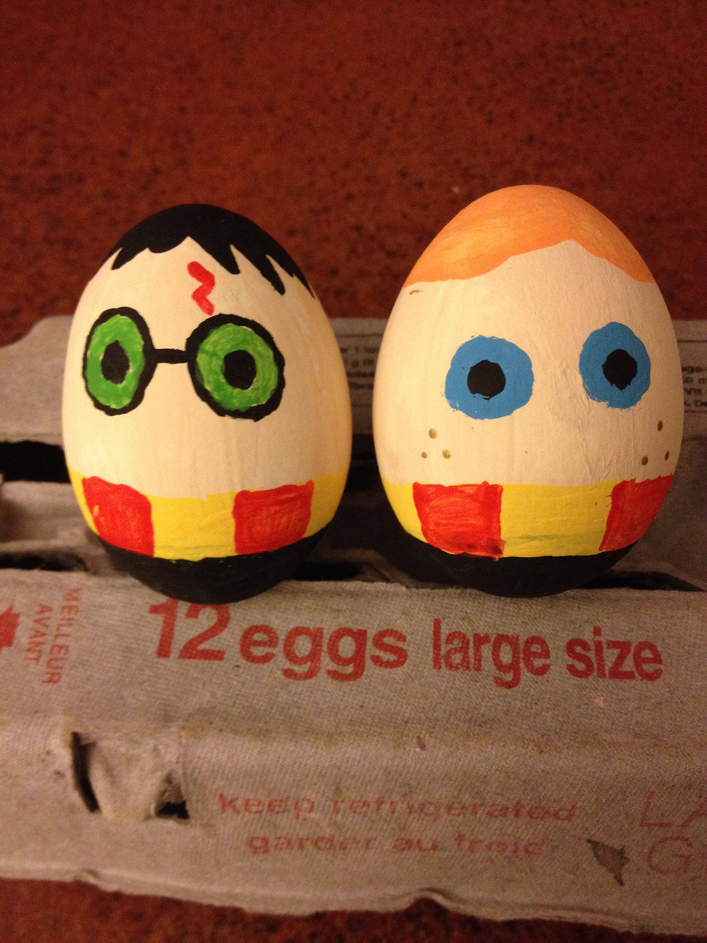Harry Potter And Ron Weasley Painted Easter Eggs Easter Crafts Easter Egg Decorating Easter Eggs