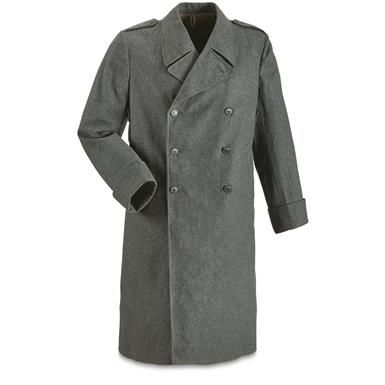 54 Swiss Military Surplus Wool Overcoat 4cabd0459
