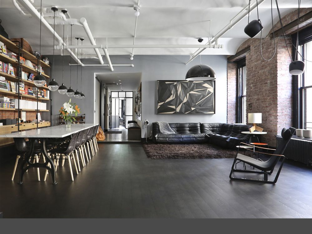 Union studio great jones loft new york interior - Loft design industriel cloud studio ...