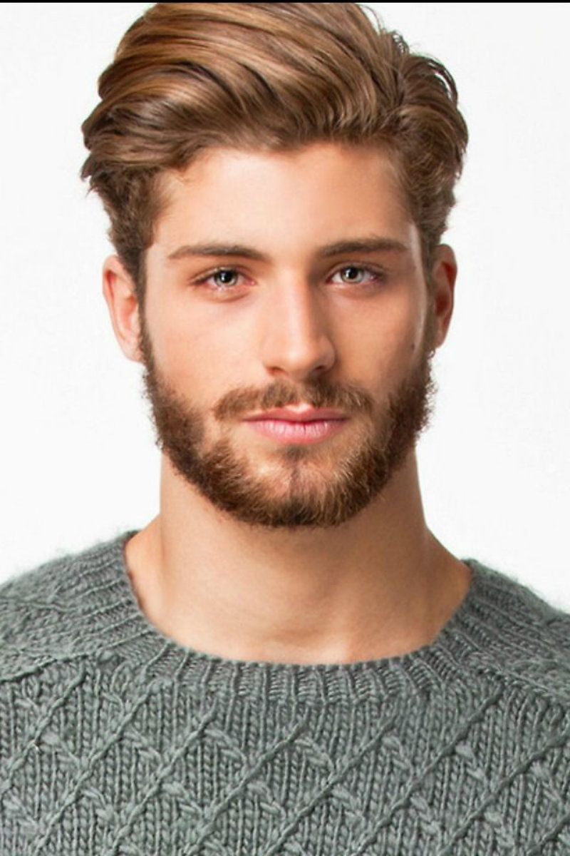 Captivating Mens Medium Length Hairstyle With Short Beard