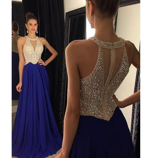 875fca5274 Halter V Neckline Floor Length Evening Dresses Prom Gowns Pst0100 on Luulla