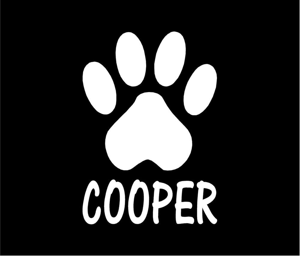 PAW PRINT PERSONALIZED Dog Cat Pet Vinyl Decal Car Window Bumper - Cat custom vinyl decals for car windows