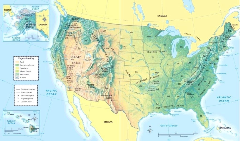 physical map of north america - Google Search | North ...