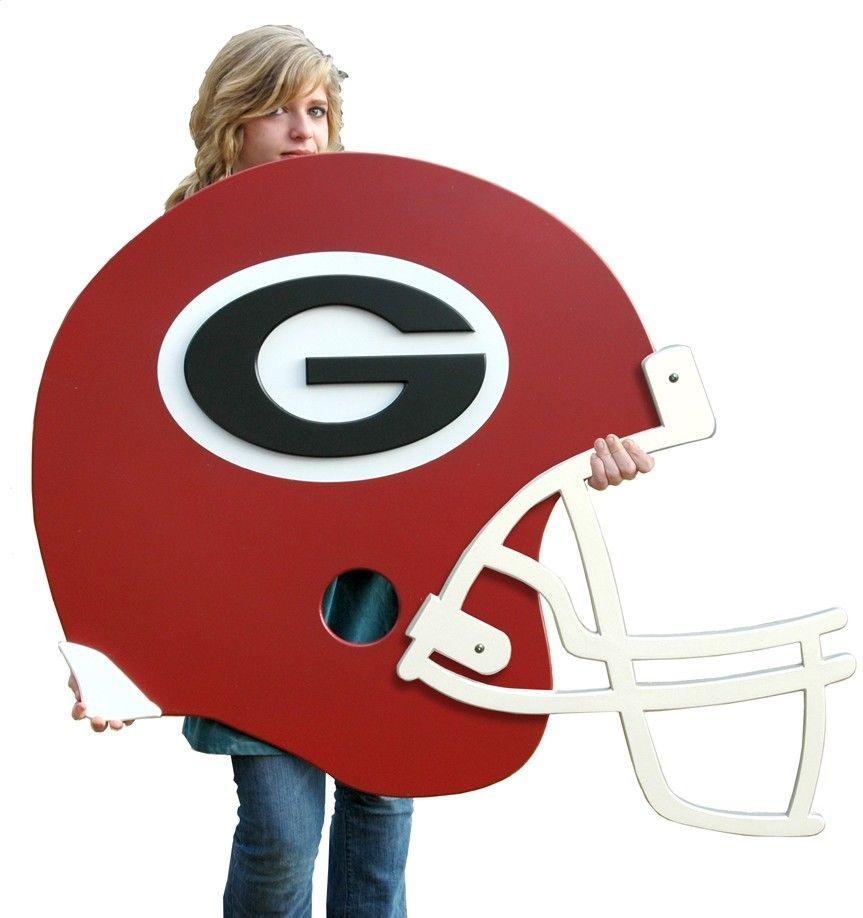 Uga Georgia Bulldogs Wooden Helmet Wall Art Georgia Bulldog Room Football Helmets Georgia Bulldogs