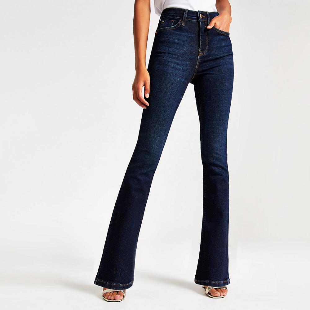 Dark blue bootcut jeans   Bootcut jeans, Women jeans