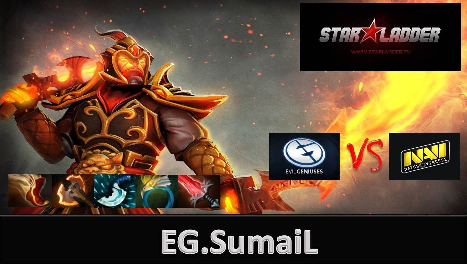 EG.Sumail Plays Ember spirit Vs Dendi Puck - EG Vs NaVi Starladder