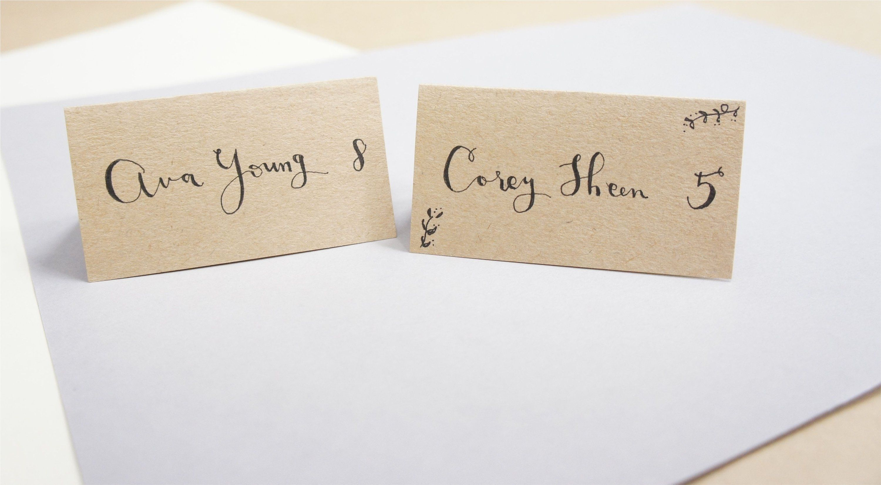 LOS ANGELES Calligraphy services for place cards Wedding &  Etsy