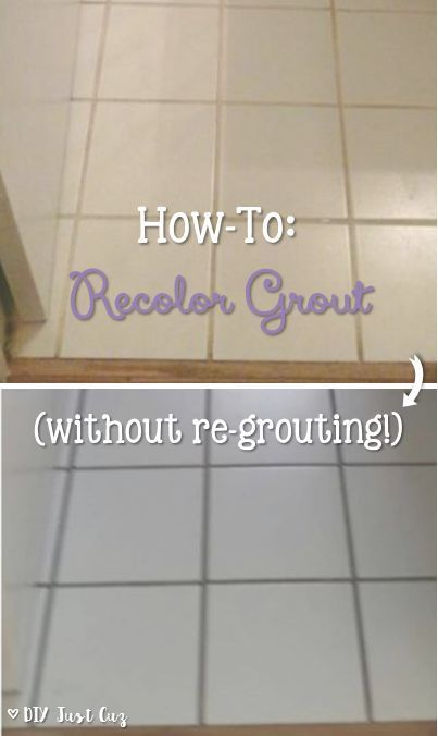 Want a new look for your grout? Take a look at this simple how-to ...