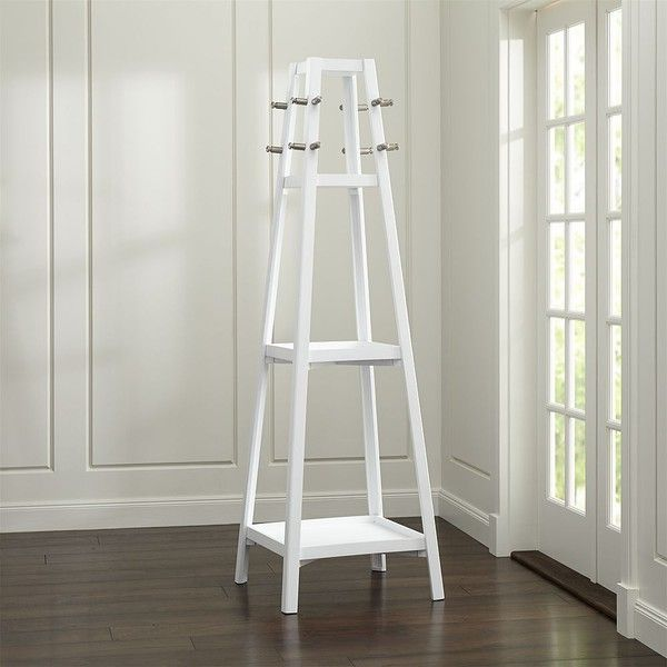 Crate Barrel Truro White Wood Standing Coat Rack €40 Liked Mesmerizing White Wooden Coat Rack