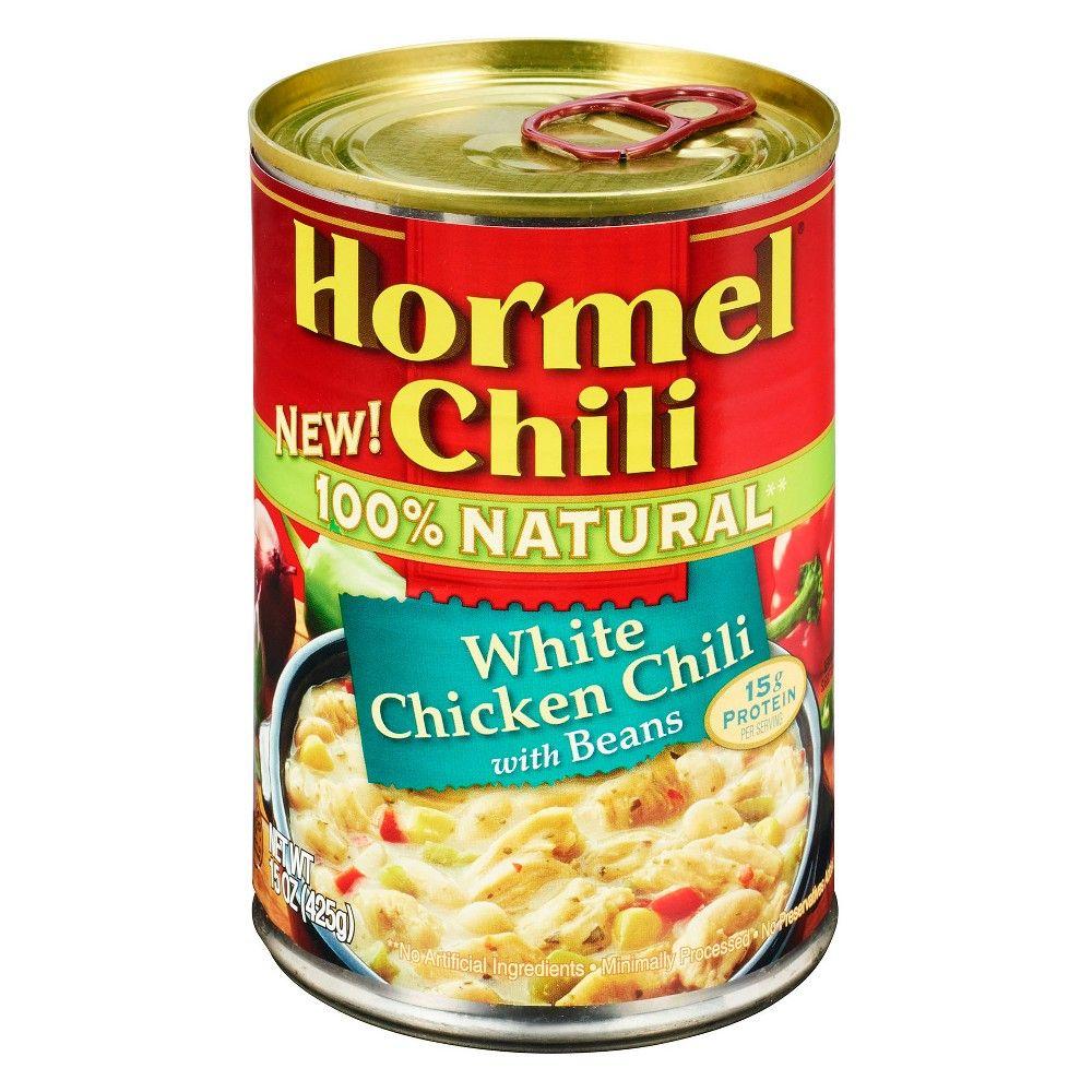 Hormel Chili 100 Natural White Chicken Chili With Beans 15oz In 2021 Hormel Chili White Chicken Chili Chicken Chili