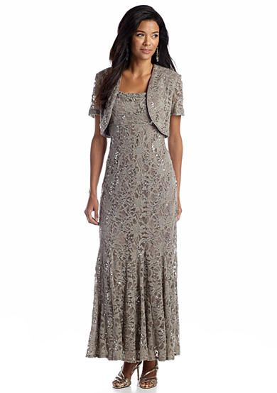 Rm Richards Petite Allover Lace Gown With Bolero Jacket Wedding