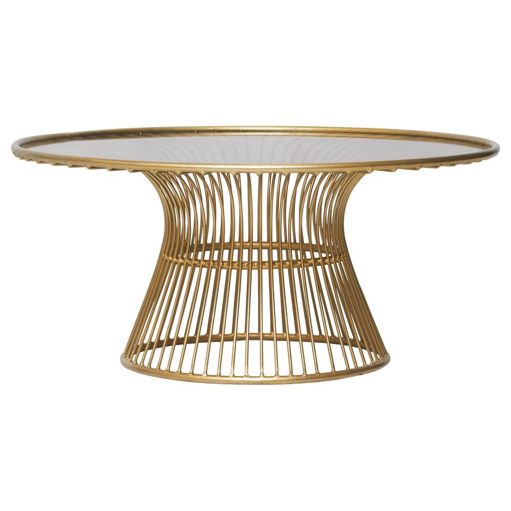 Maverick Round Coffee Table Gold Matt Blatt Coffee Table
