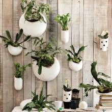 Living Wall Planters...for My Green U0026 White Garden Room!