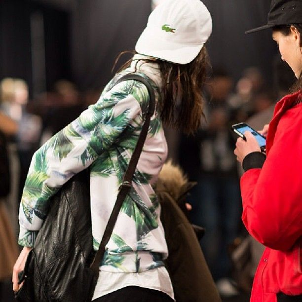 Melodie Jeng #fashionweek #fashion #fashionable #lacoste #hat #style #street #streetstyle #streetfashion #girl #models