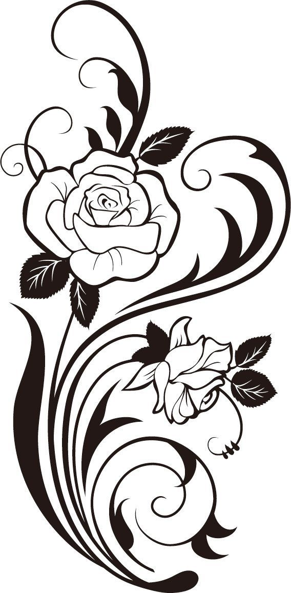 Arabesco rosas | Desenler | Pinterest | Stenciling, Wood burning and ...