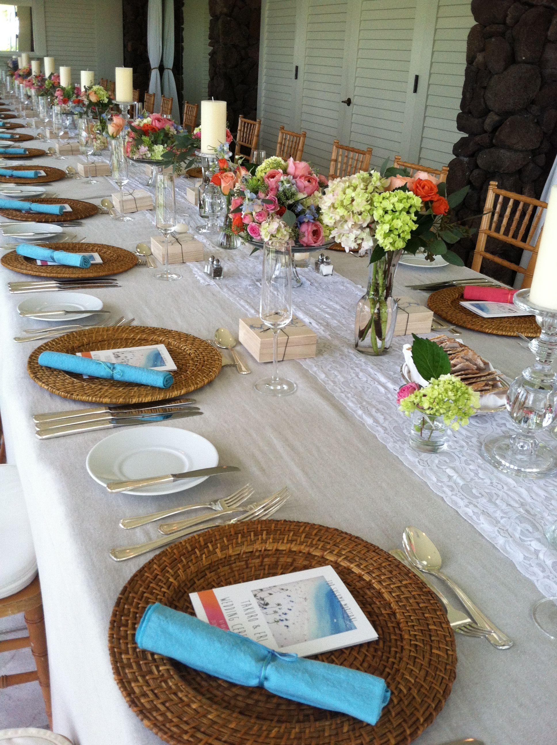 Gorgeous Hawaiian Wedding Decorations At The Kahala Hotel Resort