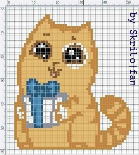 Pin By Na Liu On Cat Patterns Cat Cross Stitches Cat Cross