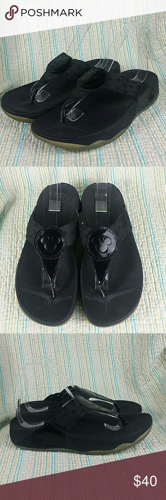 0d5e63f276d Fitflop Disney Toner Sandals Black Mickey Mouse 8 Fitflop Disney Toner  Sandals Black Mickey Mouse Design On Patent 8 EUR 39 fitflop Shoes Sandals