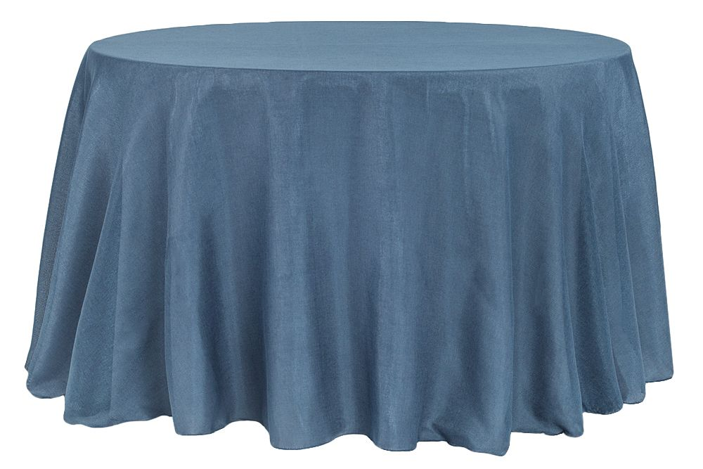 Faux Burlap Tablecloth 120 Round Navy Blue With Images
