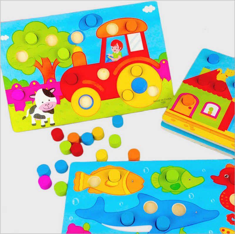 لوحة ألوان الإدراك مونتيسوري ألعاب تعليمية للأطفال لعبة خشبية بانوراما التعلم المبكر لون المباراة لعبة Cl0545h Montessori Educational Toy Matching Gamemontessor Montessori Educational Toys Educational Toys Educational Toys For Preschoolers