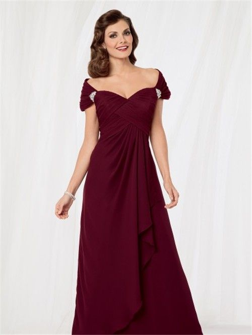 Sexy Mother Of The Bride Dresses - Sexy off shoulder floor length ...