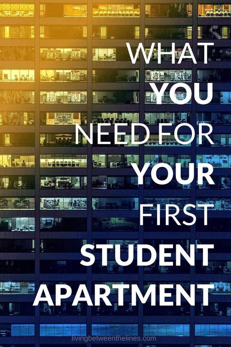 What You Need For Your First Student Apartment | Student ...