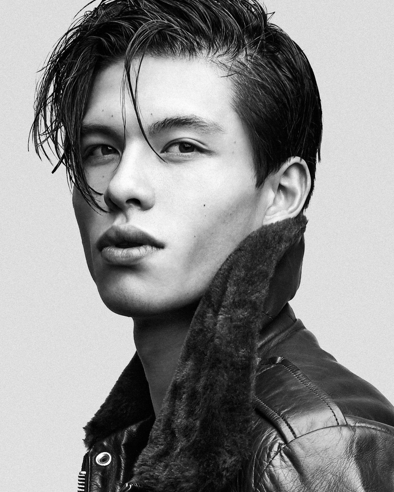 asian model Black male