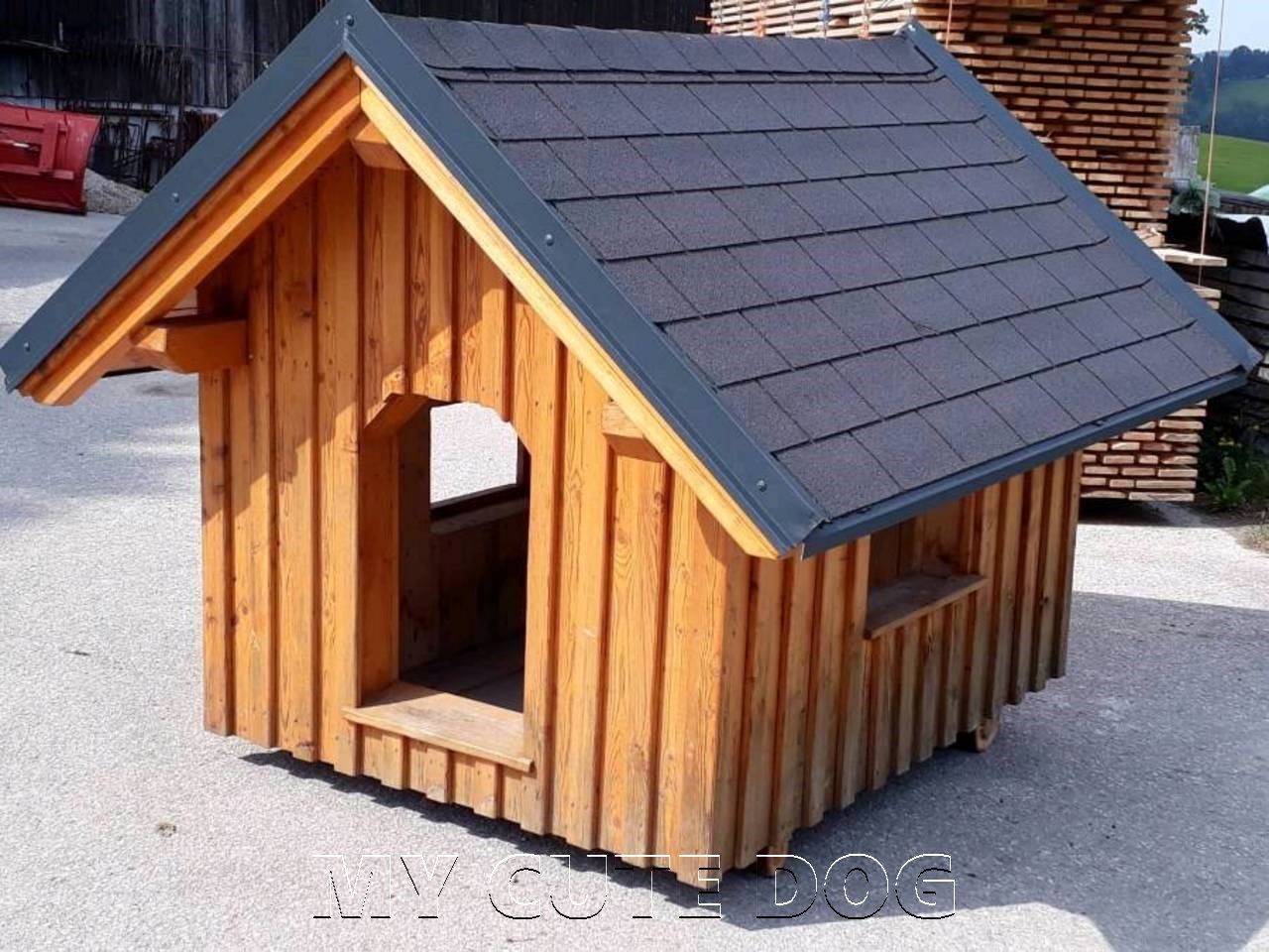 60 Dog House Ideas (With images) Dog house diy, Modern