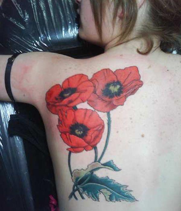 6771cf95ee740 60 Beautiful Poppy Tattoos | My next tattoo | Poppies tattoo ...