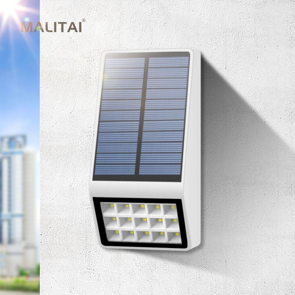 Elegant Solar Garten Licht Wasserdicht Radar Bewegungssensor Solar LED Licht Im Freien  Wand Zaun Solar Lampe