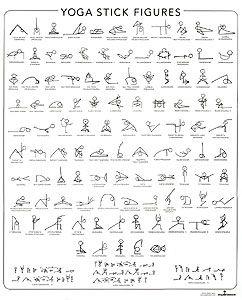 yoga stick figure learning chart alphabeticalsanskrit