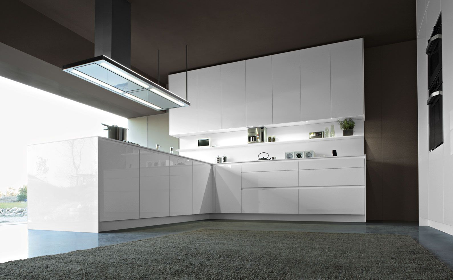 Rational küchen  Tio in artic white high gloss, another great kitchen from Rational ...