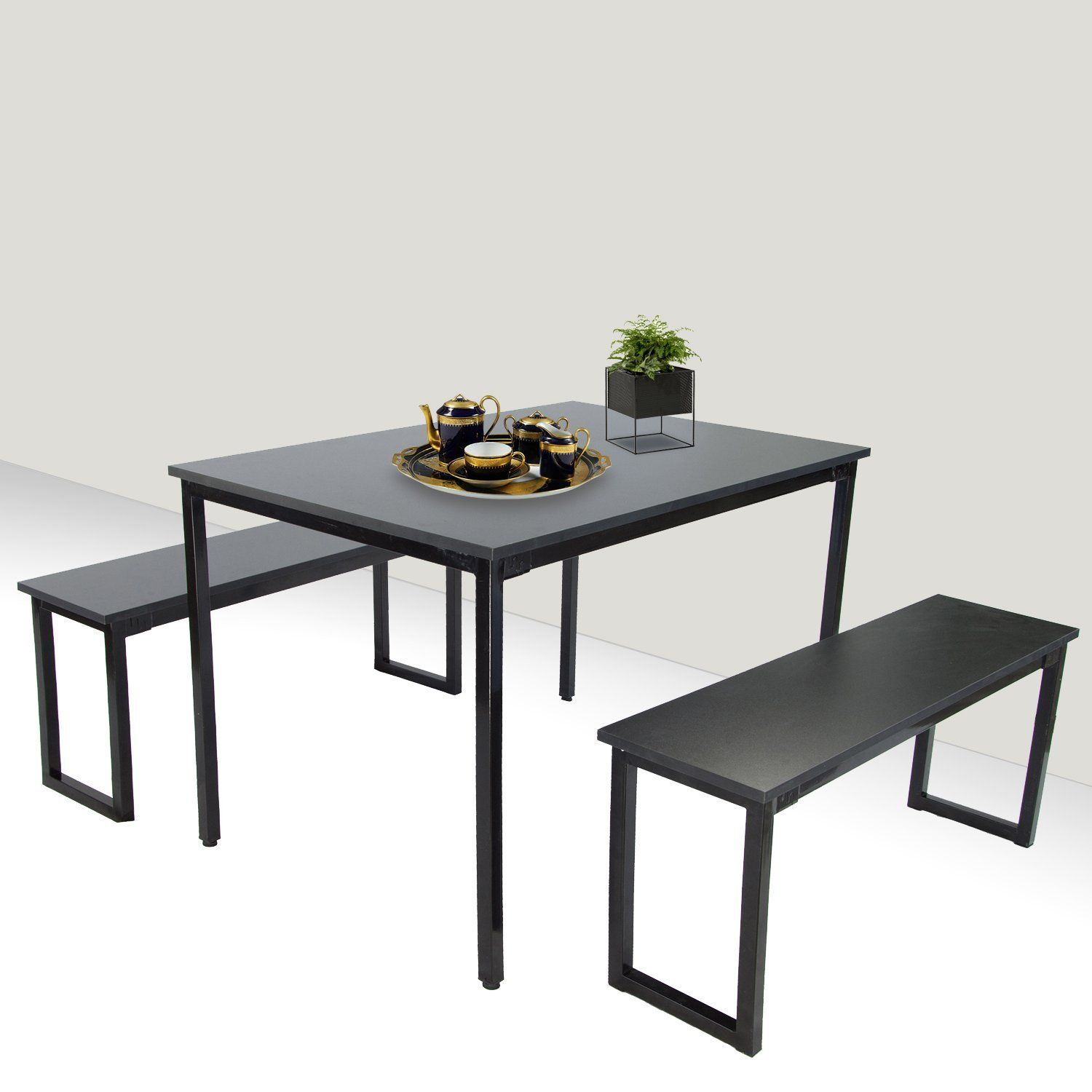 Suny Deals 3 Pieces Table Set Modern Style Dining Table ...