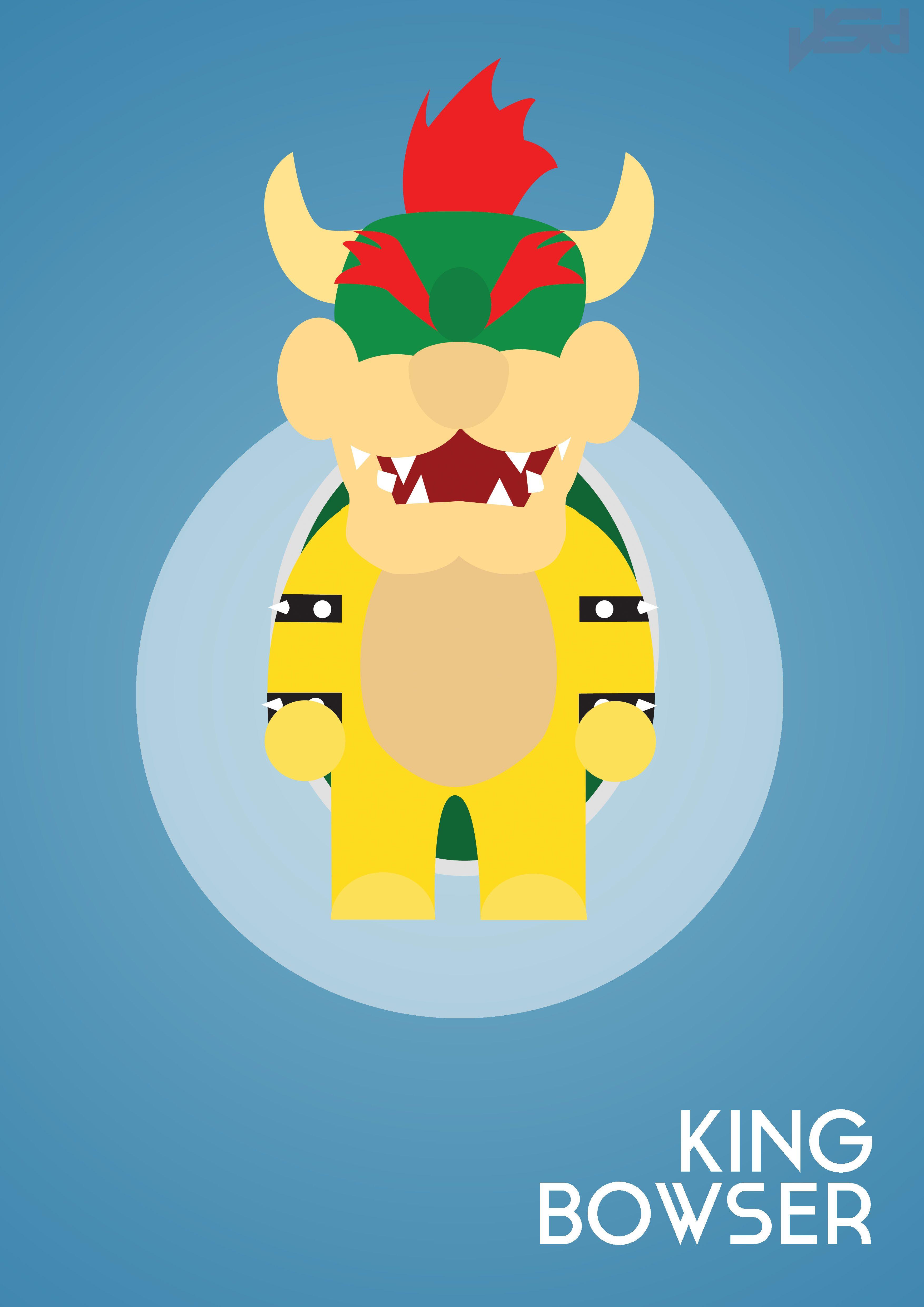 King bowser super mario bros super mario brothers