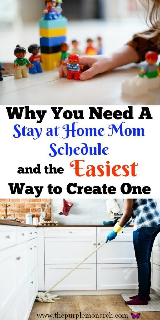 Why You Need a Stay at Home Mom Schedule and the Easiest Way to Create One ⋆ The Purple Monarch