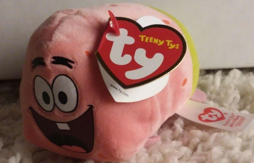 Ty Beanie Boos 4 Patrick Star 2016 Plush Stuffed Teeny Tys Collection Ty In 2020 Ty Beanie Boos Ty Beanie Beanie Boos