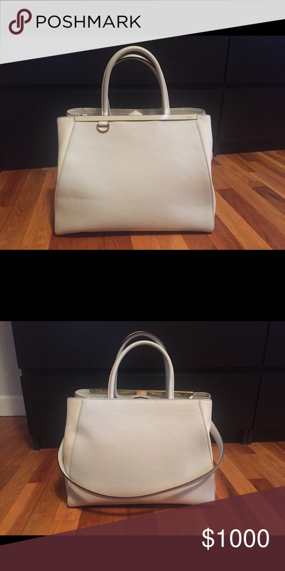 Fendi Du Jour - White In great condition, only worn a handful of times. Fendi  Bags 9e519a8a8d