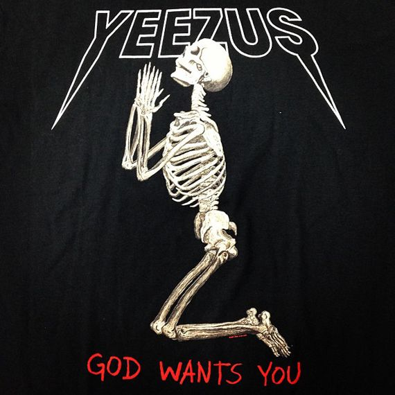 Kanye West Yeezus Tour T Shirts By Wes Lang Yeezus Yeezus Tour Merch Kanye West Yeezus