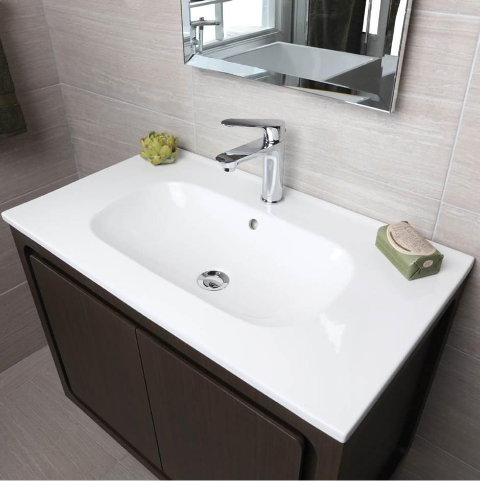European Bath Kitchen Tile And Stone Lacava 8074 01 001 Vanity Top Porcelain Bathroom Sink With Overflow W 32 Vanity Top Kitchen Tiles Bathroom Styling