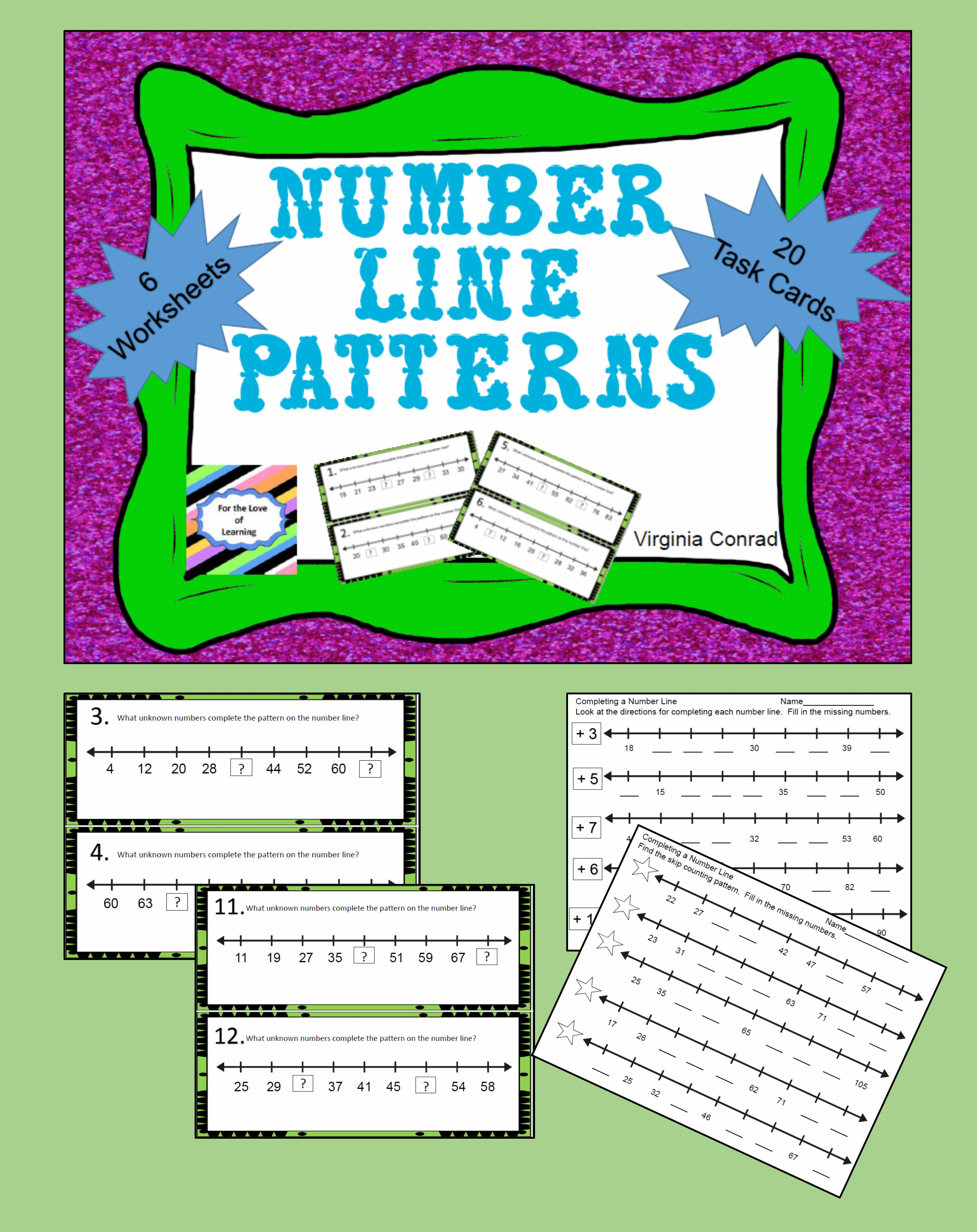 Patterns on a Number Line | Worksheets, Number and Activities