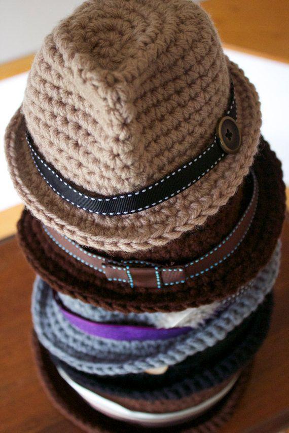 PDF Crochet Pattern Classic Fedora | Pinterest | Patrón de ganchillo ...