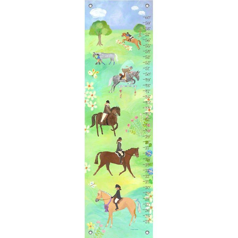 Oopsy Daisy Horse Show Canvas Growth Charts Growth Charts Chart