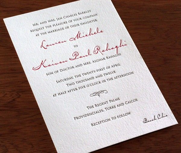Destination Wedding Invitation With Beach Chic Dress Code Wording