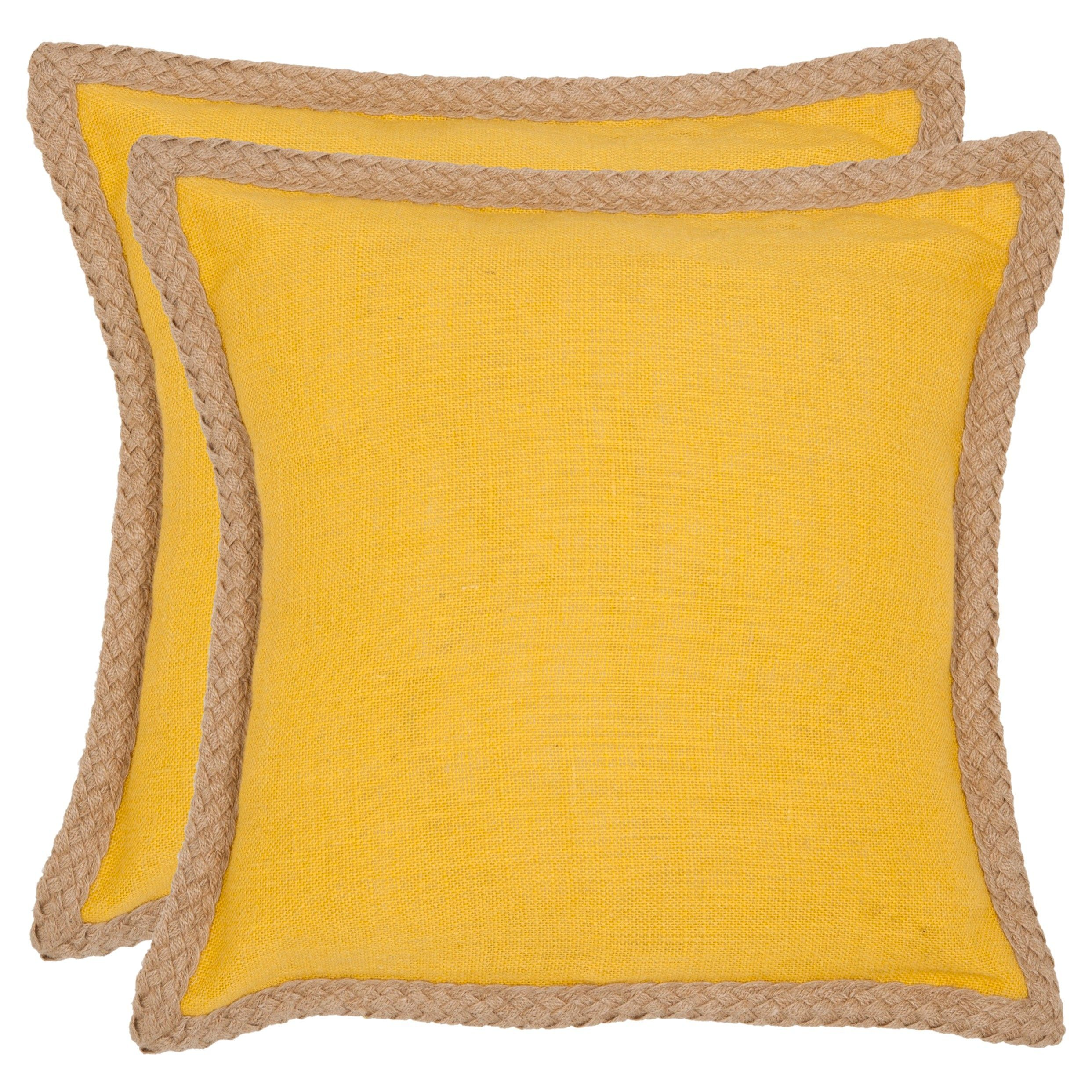 sweet sorona pillow steps off the runway and into the home with a stunning solid color accent pillow in golden yellow fabric contrasted with - Toss Pillows
