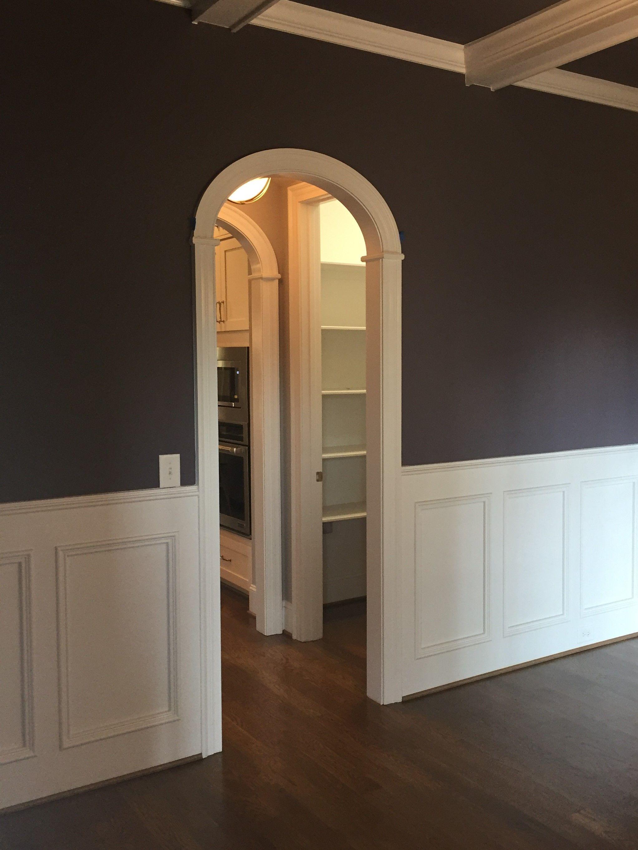 Round arch in butler pantry area Interior archways Arched Doorways
