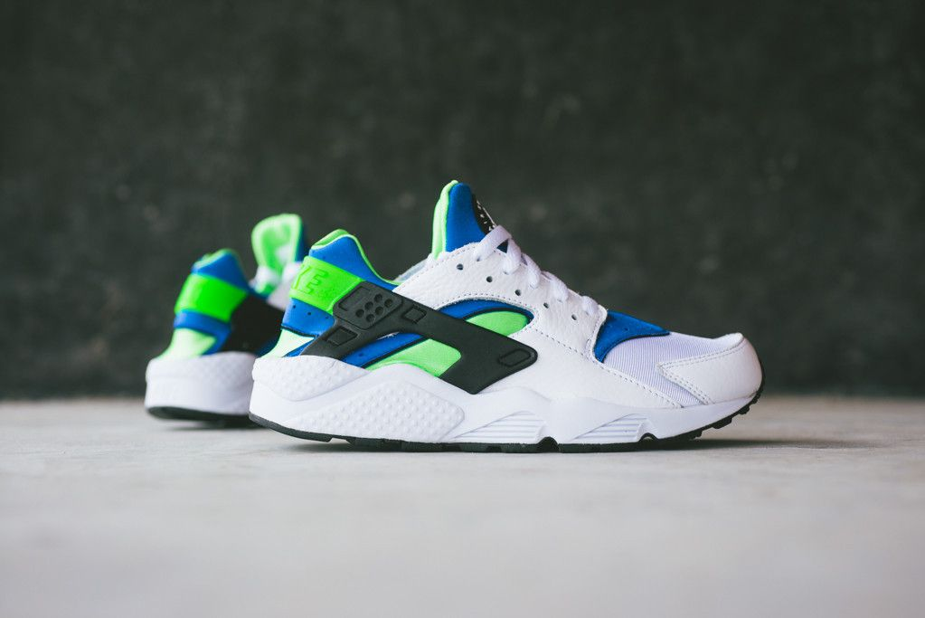 nike huarache og scream green